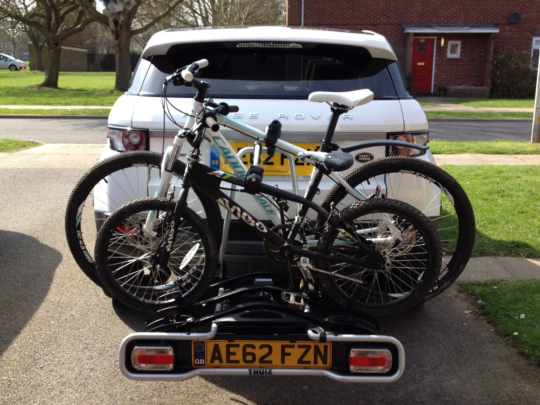 land parts large bike fit down four rover same fold vertex as thule rack hitch landrover